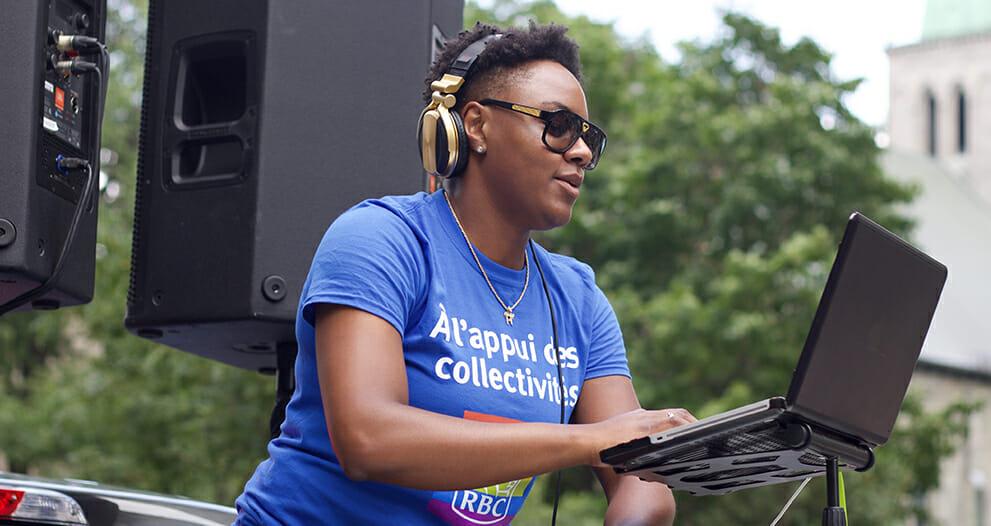 Ketty Cédat, RBC employee also enjoys entertaining listeners as DJ Kayssy.